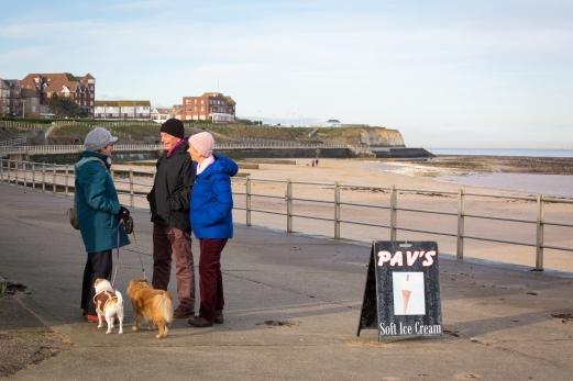 Dog Walkers at St Mildred's Bay