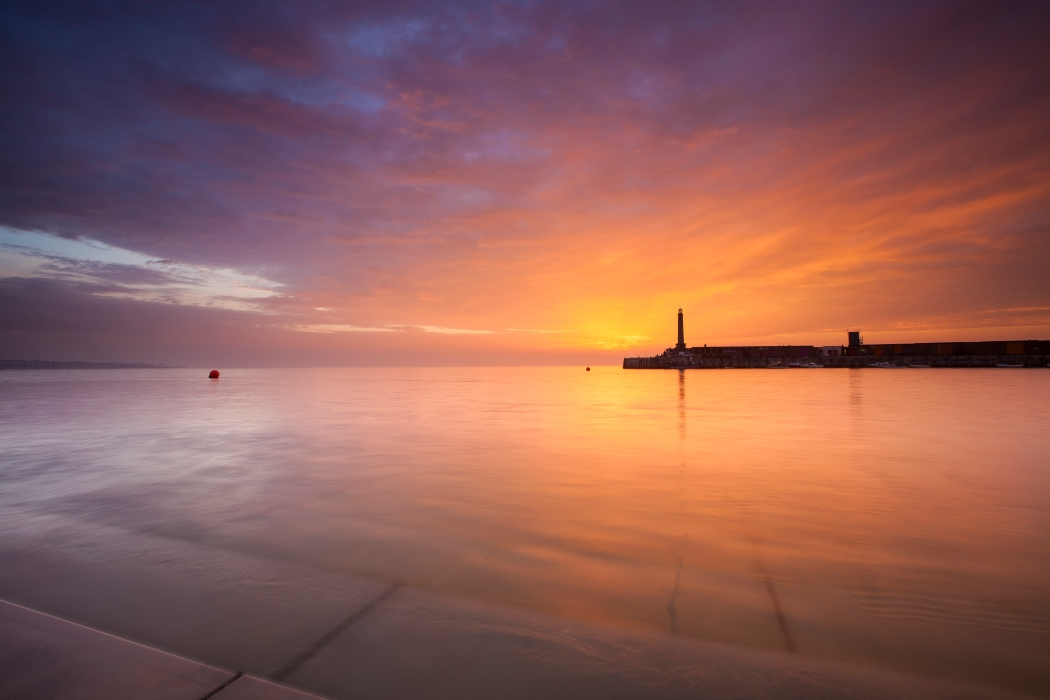Margate Harbour Arm Sunset 3