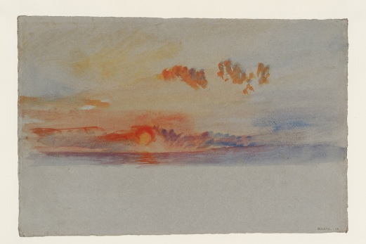 Turner, Joseph Mallord William, Orange Sunset ,c.1840 © Tate, London 2018