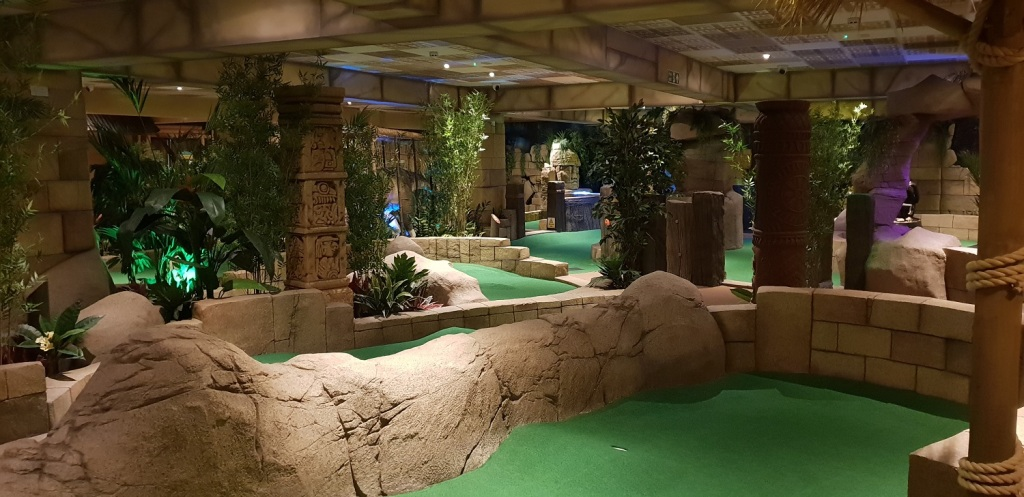 Lost Island inside mini golf