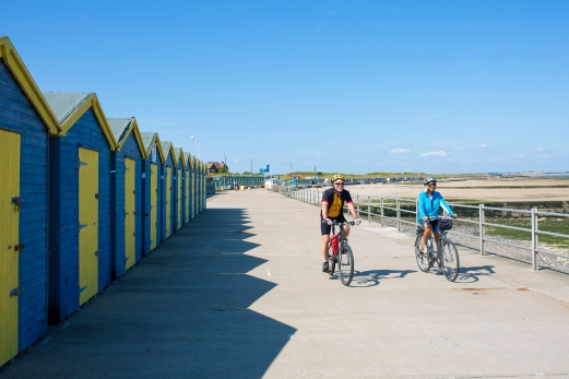 Cycling at Minnis Bay
